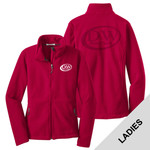 L217 - D253-S10.0 - EMB - Ladies Fleece Jacket with Laser Etch Back