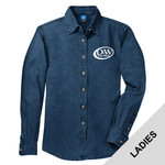 LSP10 - D253-S10.0 - EMB - Ladies Long Sleeve Denim Shirt