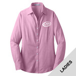 L640 - D253-S10.0 - EMB - Ladies Crosshatch Woven Shirt
