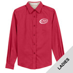 L608 - D253-S10.0 - EMB - Ladies Long Sleeve Easy Care Shirt